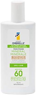 Garnier Ombrelle Mineral Sunscreen Tinted Lotion, SPF 60, for Sensitive Skin, Hypoallergenic, 50mL