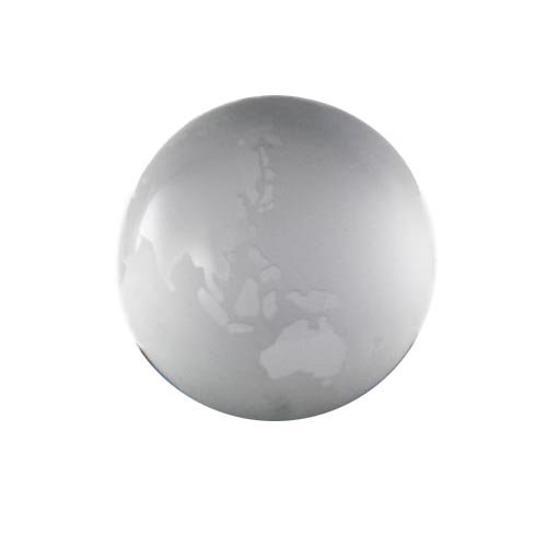 Frosted Glass Globe Paperweight -Clear