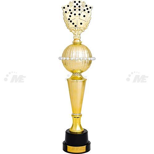 AX Esportes Troféu Dominó 1º Colocado 65cm, Dourado