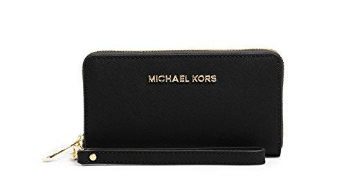 Michael Kors 'Large Jet Set' Saffiano Leather iPhone 6/6s/5/5s Wristlet