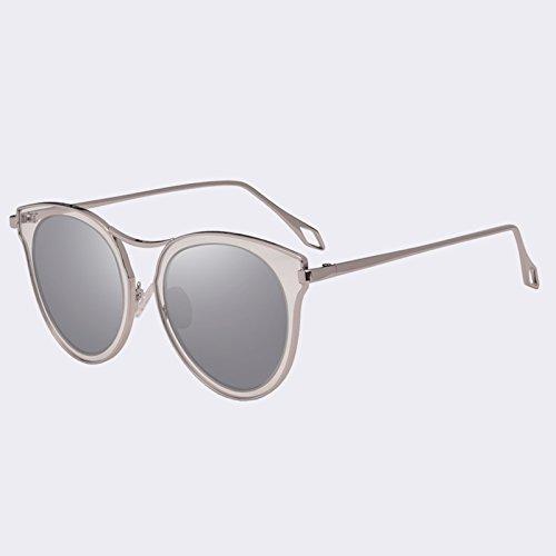 clásico sol UV400 C3azul polarizadas de mujer Ojo gafas C04Silver Gato gafas espejo Vintage TIANLIANG04 de sombras de Pqtw6wAF