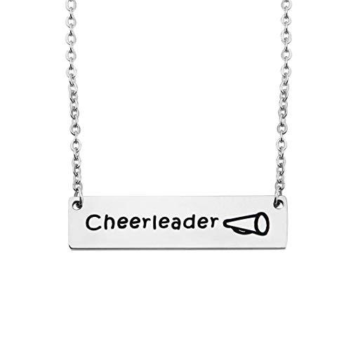 BNQL Cheerleader Megaphone Bar Necklace Team Gift -