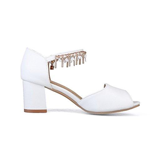 36 Blanc 5 ASL05559 Femme Bout BalaMasa Blanc Ouvert Sp8nq