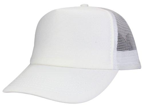 Casquette Baseball Trucker Cap en blanc
