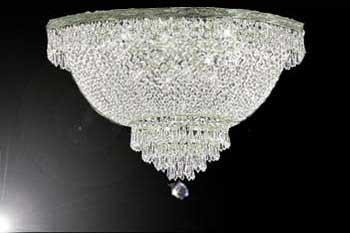 "French Empire Crystal Semi Flush Basket Chandelier Chandeliers Lighting H18"" X W24"""