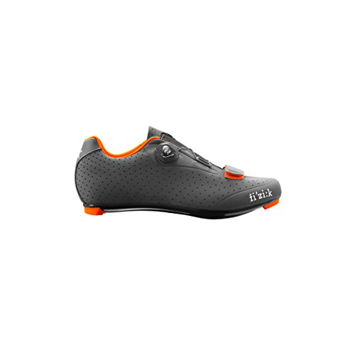 Fizik R5B Rennradschuhe Herren anthrazite/orange fluo Größe 43 2017 Mountainbike-Schuhe