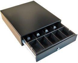 APG Vasario Standard Duty Cash Drawer - Painted - Dual Media Slots (P/N VB320-BL1313-B27) by APG