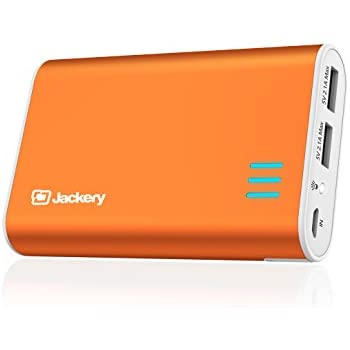 Jackery Fit Premium 10200mAh Dual USB 2.4A Output Portable Battery Charger - External Battery Pack, Power Bank, & Portable Charger for iPhone, iPad, Galaxy, and Android Smart Devices (Orange)