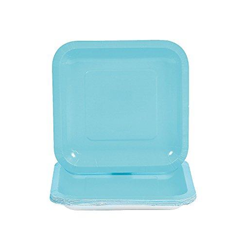 Light Blue Square Dessert Plates
