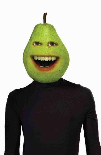 Forum Annoying Orange Pear Mask Latex Costume, Green, One Size