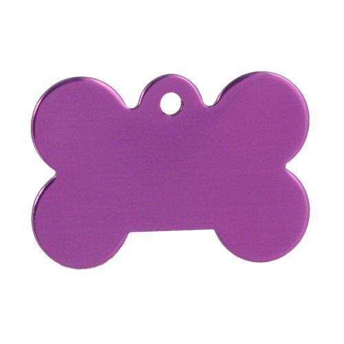 (Dog Tags 10 Purple Bone Pet Tag Blanks)