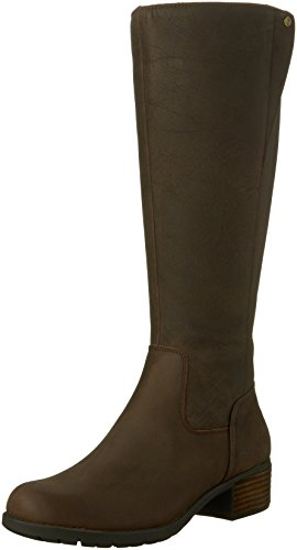 Hush Puppies Women's Polished Overton Riding Boot, Dark Brown Leather, 7.5 W US by Hush Puppies