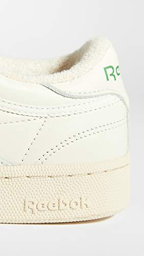 Reebok Women's Club C 85 Sneaker, Chalk/Glen Green/Paper White/Excellent Red, 9