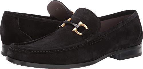 - Salvatore Ferragamo Men's Grandioso 2 Loafer Black Suede 9.5 E (M) US