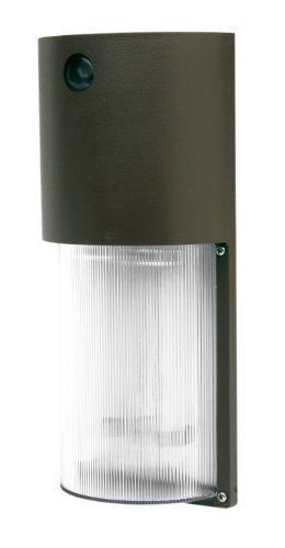 Designers Edge L-1772-26W-BR ECOZONE 26-Watt Fluorescent Dusk to Dawn Security Light, Bronze