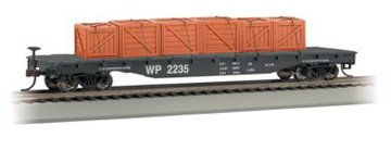 (Bachmann Trains Western Pacific Flat Car With Created Load-Ho Scale)