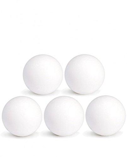 CAAA Balles de Baby-Foot Blanches en Plastique x5