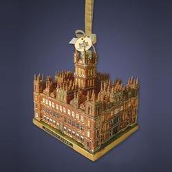 Downton Abbey 4.25-Inch Glass Castle Ornament