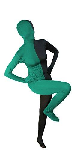 Split Black and Hunter Green Full Body