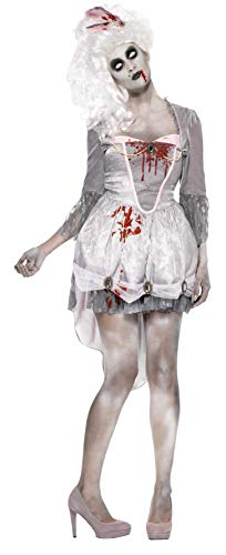 Smiffys Women's Zombie Georgian Costume, Dress and Headpiece,