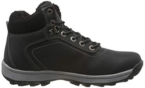 Neve Caviglia Abtop nero Piatto Sportive Pelliccia Stivali Boots Allineato Ab7445 Invernali Escursionismo Uomo Scarpe Caloroso Stivaletti Da RqwCgtq