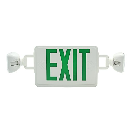 Ainfox 6 Pack LED Exit Sign Emergency Wall Light, Back -up Letter Cover (green/6pack) by Ainfox (Image #8)