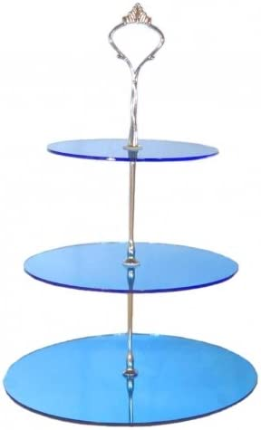 Height 32cm 19cm /& 23cm 3 Tier White Heart Cake Stand 15cm