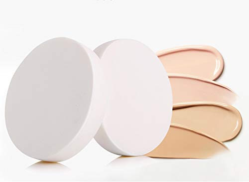 MZ BEAUTY 2pcs Round Makeup Sponges, Compact Powder Puff, Blender Sponge Replacement for Cosmetic Flawless Foundation