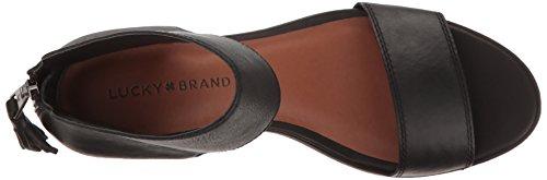 1 Lucky Cuir Brand Barbina Sandales Noir zORWf7Hxqw