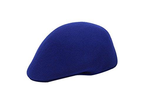 Femme En Feutre Pour Elégant Mode Hiver Bleu Chaud amp; Fille Acvip Casquette Laine Béret Bonnet Chapeau Automne BXww16xP