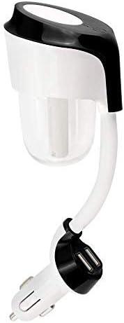 MASO Difusor de aceite de Coche Portátil Purificador de Aire Difusor de Aceites Esenciales con Cargador de Coche Dual USB Mini Humidificador Ultrasónico de Aire (Negro)