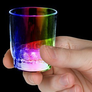 Fun Central Multicolor LED Light Up Shot Glass - Flashing Drinking Glass Party Supplies for Bar and Parties