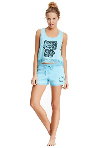 Hello Kitty Adult (Hello Kitty Juniors Lace Fever Tank and Shorts Pajama Set)