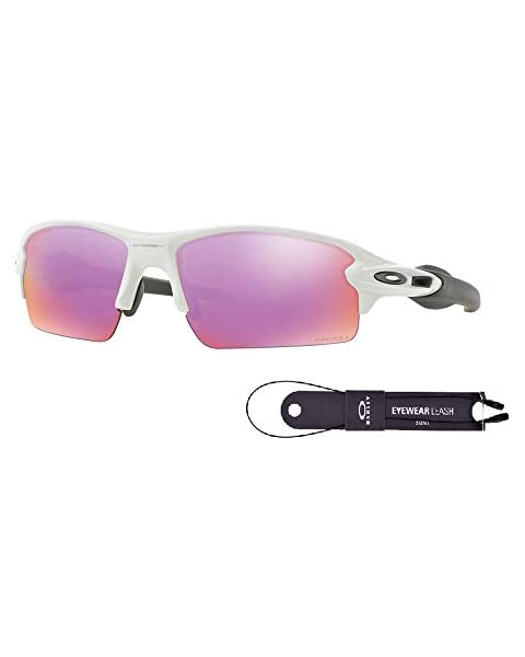 85f0eeefaa Oakley Flak 2.0 OO9295 929506 59M Polished White Prizm Golf Sunglasses+BUNDLE  with Oakley