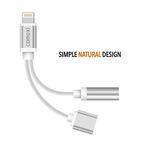 2 in 1 lightning adapter for iphone 7 7 plus comoxi. Black Bedroom Furniture Sets. Home Design Ideas