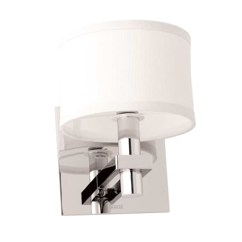 Ginger 3082 Single Light with Fabric Shade from the Frame Collection, Polished - Sconce Ginger Polished