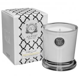 Scented Box (Aquiesse Fine Scented Large Candle In Box - White Ginger Lily 11oz)