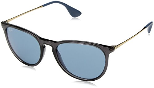 Ray-Ban RB4171 Erika Round Sunglasses, Transparent Grey/Blue, 54 mm (Raybans Amazon)