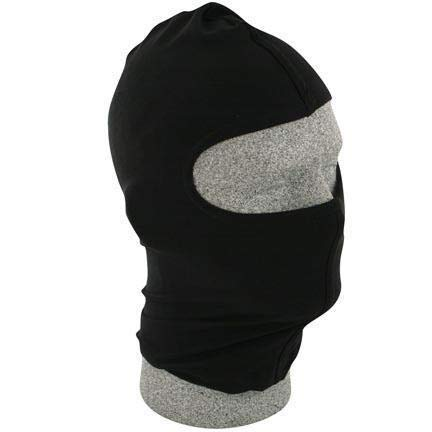 - Balaclava, Black Nylon Face Mask - One Size