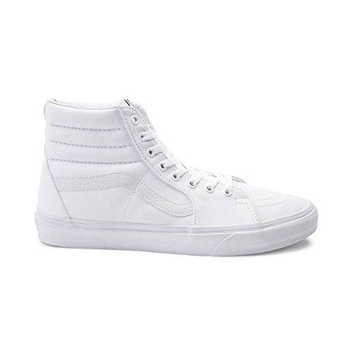 Vans SK8 Hi True White Unisex Shoes Men/Women Fashion Skate Sneakers (5.0 Men/6.5 Women) (Vans White Sk8 Hi)