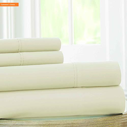 Mikash New Soft | 1800 Series 100 GSM 4 Piece Solid Microfiber Sheet Set (Turtledove, King) | Style 84600689