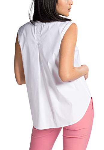 Eterna Sleeves Without By 1863 Blanco Uni Premium Blouse rrRaTq