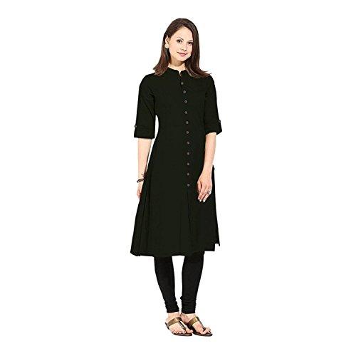 Muta Fashions Black Kurti For Trendy Women Kurtas for Girls Fabric (Black)