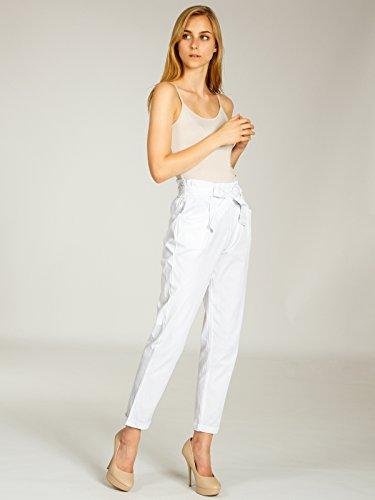 Collants En Coton Style Paperbag Pantalons De Blanc Des Caspar Modernes Khs048 D'été Femmes 8wx4q