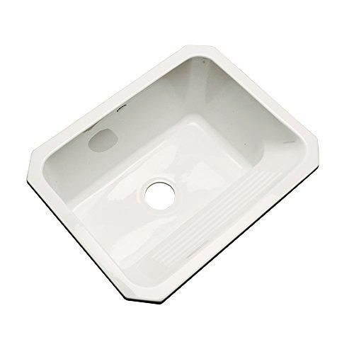 Dekor Sinks 31003UM Richfield Cast Acrylic Single Bowl Undermount Utility Sink, 25