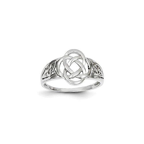 14k Celtic Engagement Ring - 14k White Gold Ladies Celtic Knot Ring