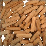 WIDGETCO 1/4'' x 1'' Wood Dowel Pins, Multi-Groove(QTY 5,000) by WIDGETCO