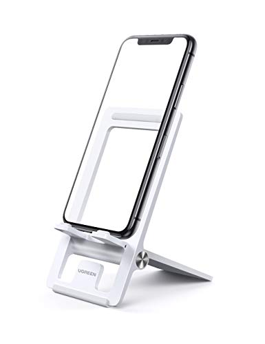 UGREEN Cell Phone Stand for Desk Adjustable Phone Holder Dock Compatible for iPhone 12 Pro Max 11 XS XR 8 Plus 6 7 6S…