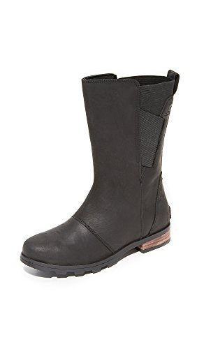SOREL Women's Emelie Mid Boots, Black, 7 B(M) US