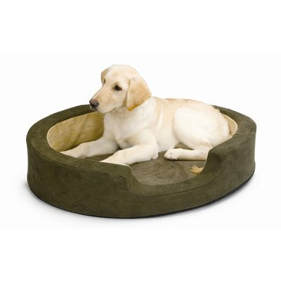 (K&H Manufacturing Snuggly Sleeper Heated Bolster Dog Bed Size: Medium (26